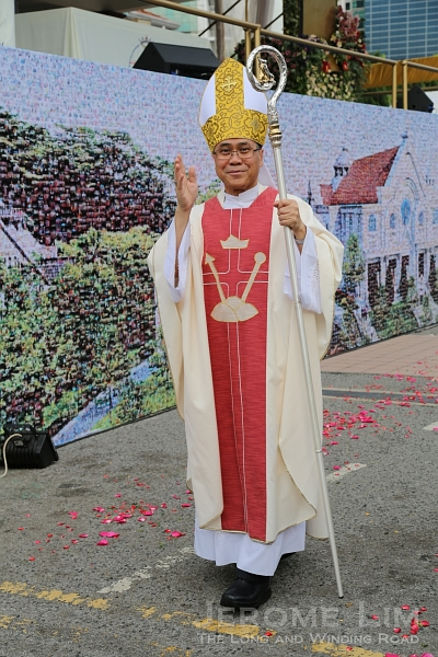 The Most Rev Msgr William Goh, the Archbishop of Singapore.
