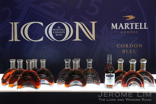 Cognacs on offer at the tasting session: Martell Cordon Bleu, Martell XO, Martell Chanteloup Perspective, and Martell Création Grand Extra.