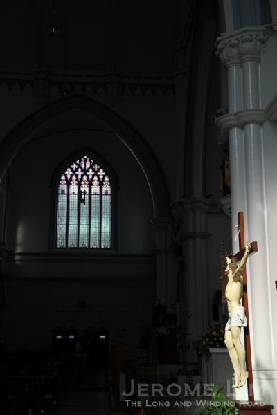 A look across to the west transept.