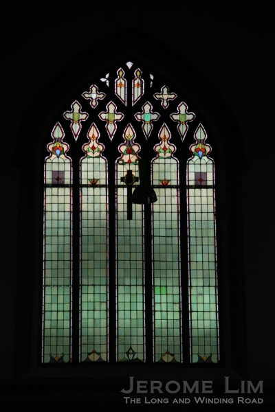 Close up of the window at the end of the west transept.