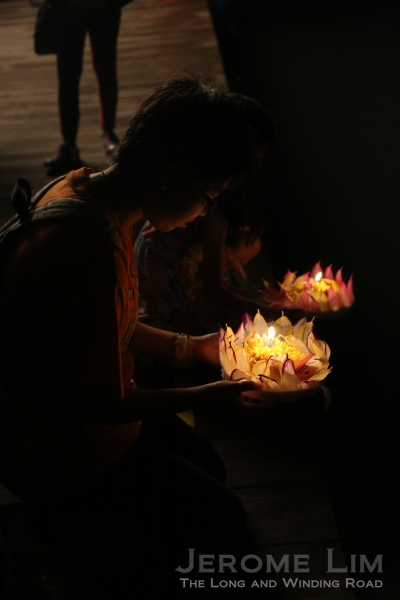 Release of water 'Loi Krathong' lanterns.