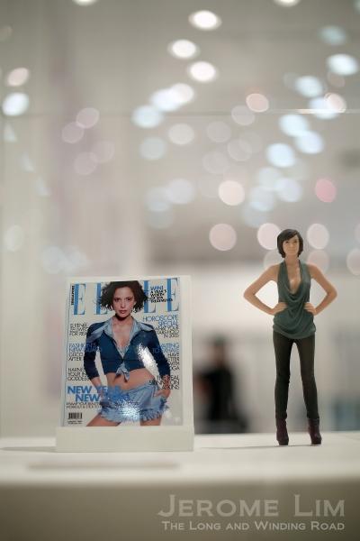 A 3D 'print' of model Rebecca Tan on display at the Uu 3D studio.