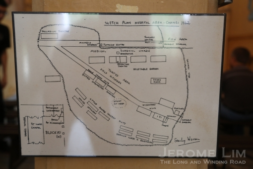 A map of the POW camp sketched by Stanley Warren.