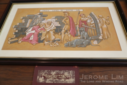 A copy of the copy of the fifth mural which Warren painted.