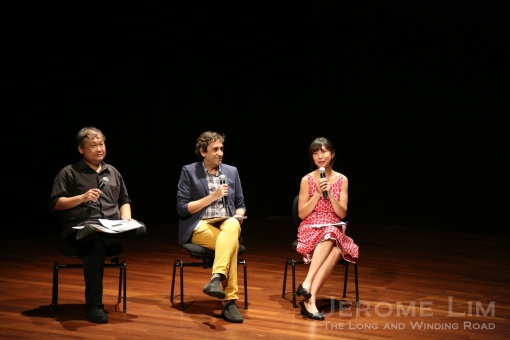 Artistic Directors of the festival, Alvin Tan and Haresh Sharma together with Festival Manager, Melissa Lim.