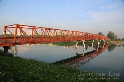 The bridge across the reservoir.