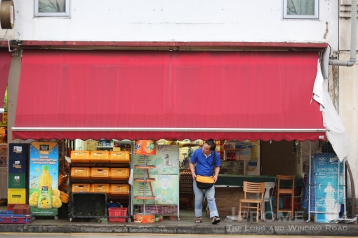 Businesses open at the break of day to cater to migrant workers leaving for work.