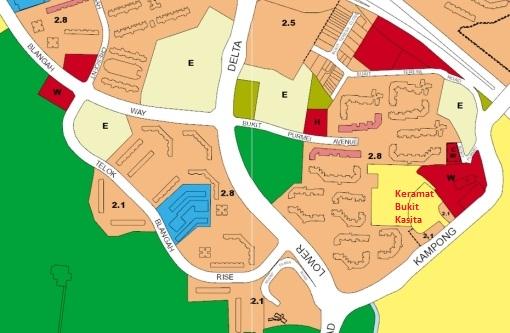 URA's Draft Master Plan 2013 shows the Keramat Bukit Kasita area as a reserve site.