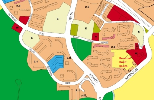 URA's Draft Master Plan 2013 shows the Keramat Bukit Kasita area as a reserve site.