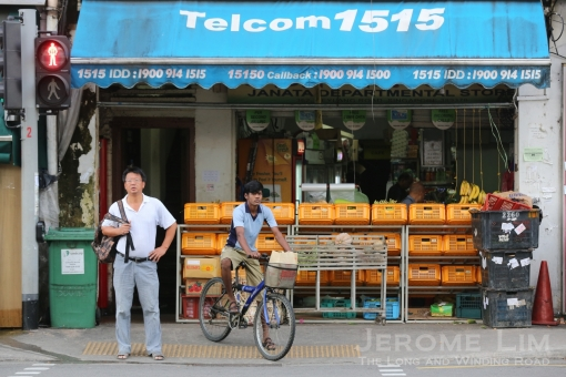 Businesses catering to the needs of the migrant workers are in clear evidence.