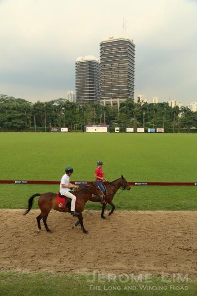 The Singapore Polo Club's outdoor arena.