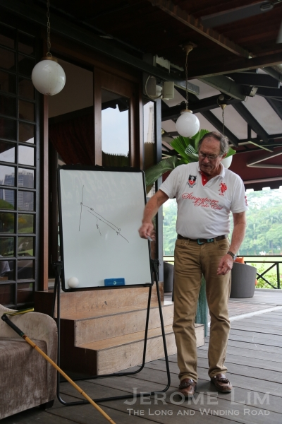 "Mr Podger El-Effendi explaining the ""rules of the road""."
