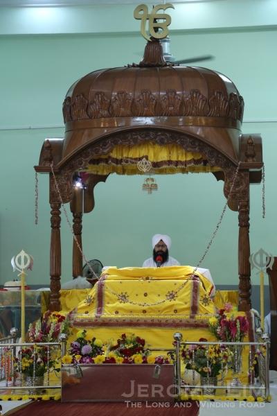 Inside the prayer hall or Darbar Sahib.