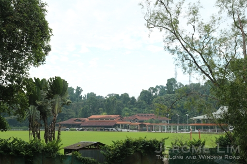 The Polo Club's grounds as seen from Thomson Road.