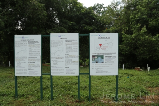 Notices of exhumation at Bukit Brown Cemetery.