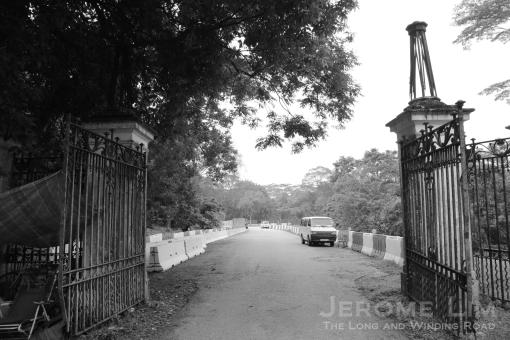 Gates of Bukit Brown Cemetery.
