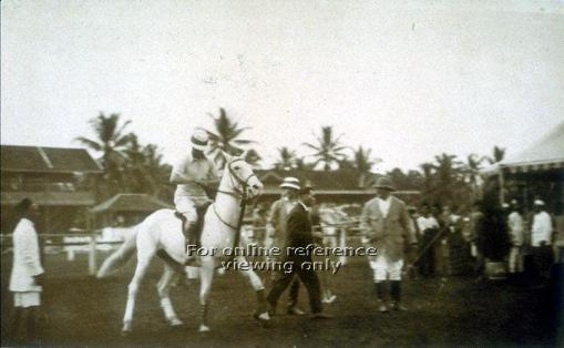 The Prince of Wales playing polo at the Balestier Road ground in 1922 (source: http://archivesonline.nas.sg/).