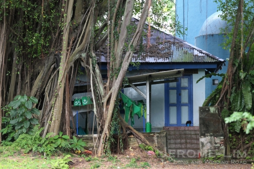 A view of the front of the structure where Haji Omar Ali's son, Haji Ambo Sooloh can be found.