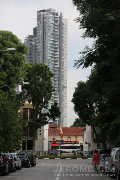 A view down Jalan Kubor - the pace of development in the area is gathering pace.