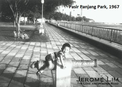 The sea fronted Pasir Panjang Park in 1967.