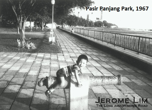 The sea fronted Pasir Panjang Park in 1967.