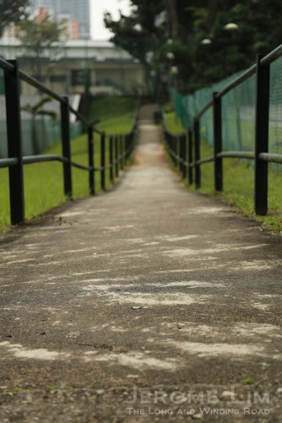 A pavement where there once wasn't, along a well-trodden path that served as a shortcut to Thomson Primary and Secondary Schools from Toa Payoh.