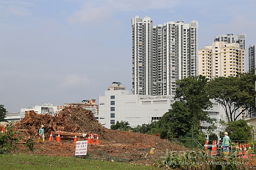 A view of the clearance works around Toa Payoh West.