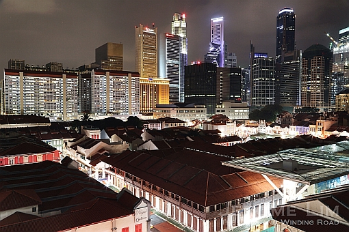 A view over the sanitised Chinatown and the modern city that has grown around it.