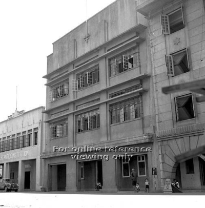 Area where Waterloo Centre is today, as seen in 1959 - the Mercantile Institution, a private school established in the 1920s, can be seen on the left right next to Nantina Home (ex Nantina Hotel) (photo source: http://archivesonline.nas.sg/).