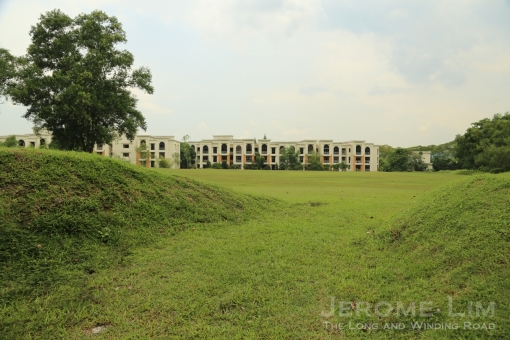 Where a school is now being built - the condominium in the background is the Seletaris.