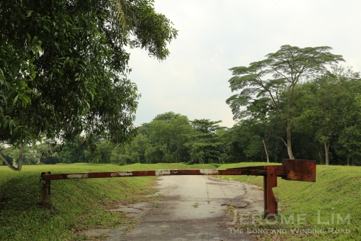 The end of the road - Jalan Ulu Sembawang used to continue into the Mandai area toward Lorong Gambas.