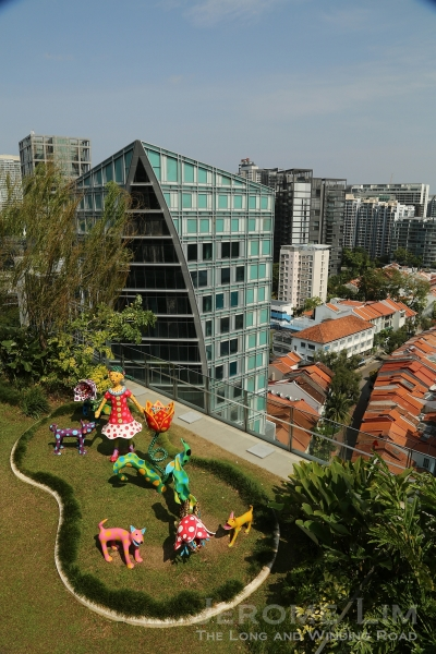 The roof terrace of Orchard Central from which one gets the alternative views of Orchard Road.