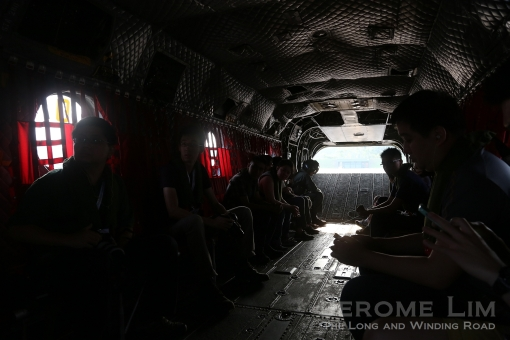 Another view inside the Chinook during a preview of the ride.