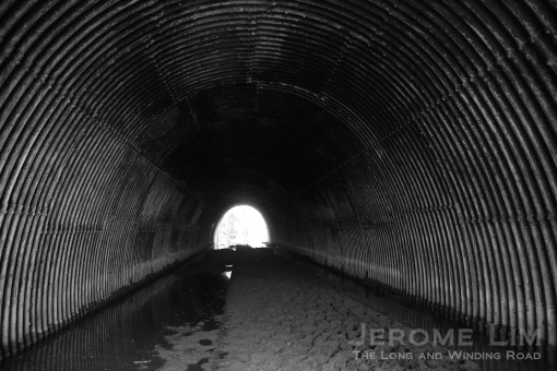 A view inside the tunnel.