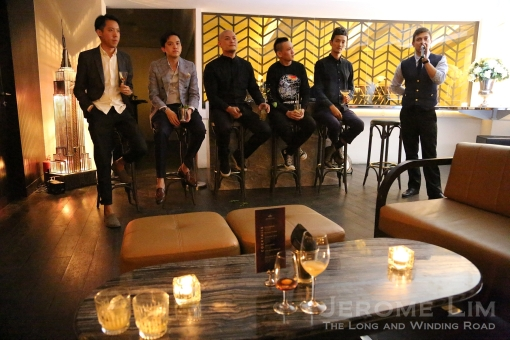 The six Elegantologists who epitomise the three pillars of Martell VSOP's Elegantology philosophy: Look, Music and Bar.