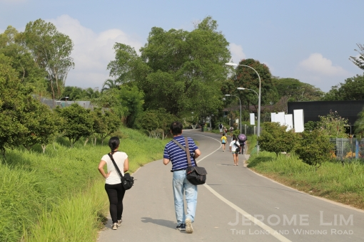 Walking through a reminder of the lost countryside at Bah Soon Pah Road.