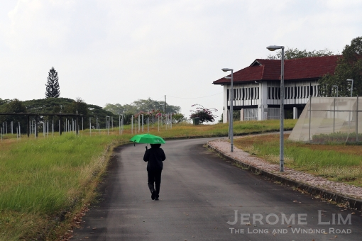 The road to the former residence.
