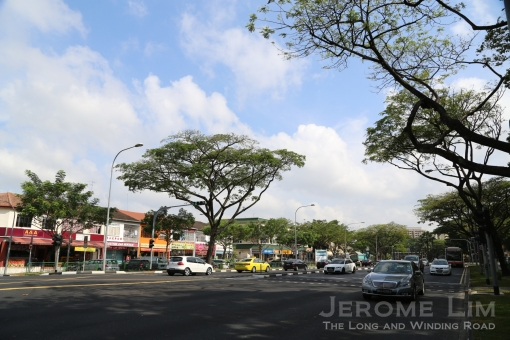 Sembawang Road at its junction with Jalan Mata Ayer.