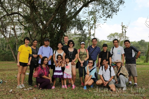 The group at Jalan Ulu Sembawang in search of a lost countryside.