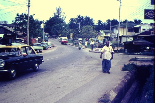 Sembawang Road at its junction with Kedondong Road, 1960s