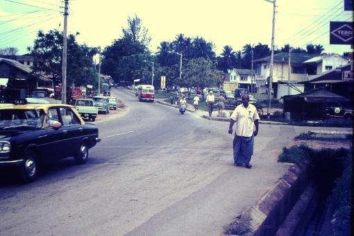 Sembawang Road at its junction with Kedondong Road, 1960s