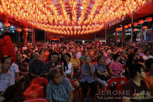 The crowd at the Chai Chee United temple where the last performances were held over four days.