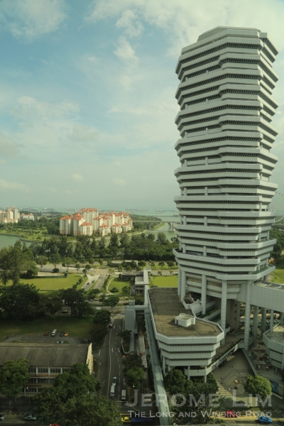 A more recent landmark on Beach Road, the 41-storey The Concourse and a view toward Tanjong Rhu beyond it.