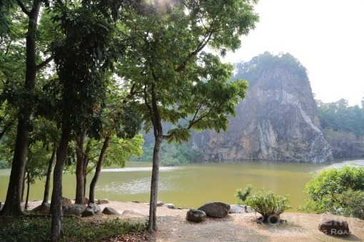 The rainwater filled former Gammon Quarry, now part of a park known as Little Guilin, is one that seems to hide much in terms of mystery.