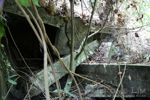 A mysterious collapsed structure on the one of the western slopes at Bukit Gombak.