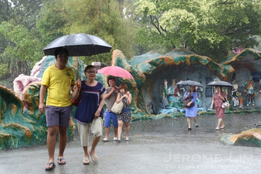 The rain did deter not visitors over the first weekend.