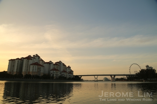 Tanjong Rhu and the Benjamin Sheares Bridge.