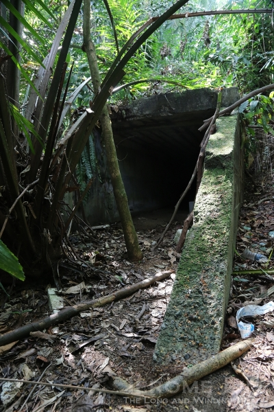 The entrance to a service tunnel at what is believed to be an aviation fuel storage facility at Marsiling.