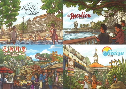 The Tourism50 Postcards.