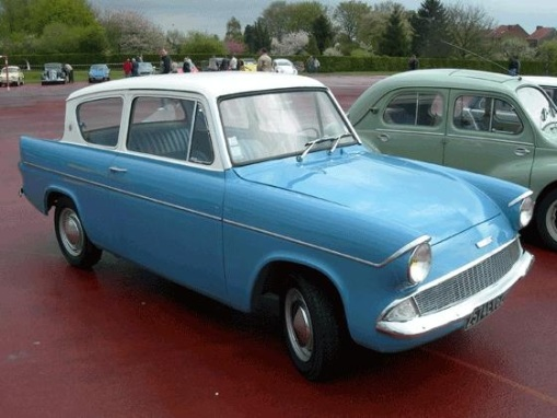 The mere sight of this turquoise Ford Anglia will strike fear in every pupil of TPS as it means the Senior Assistant cum Discipline Master is around somewhere in the school..